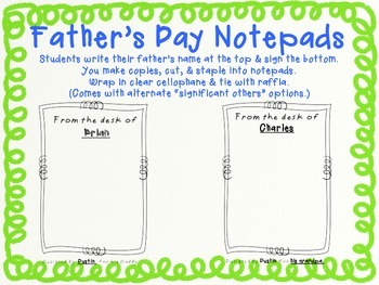 Father's Day Gift:  Easy, Fast, Fun Pre-K, TK, K, 1st, 2nd, Any Grade!