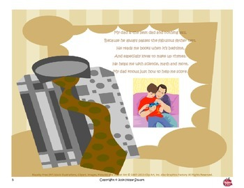 Father's Day Gift Idea Book Packet:  My Fabulous Father Helps Me Shine!