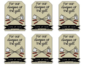 Fathers' Day Gift tags/labels
