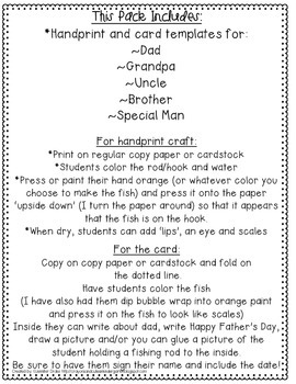 Father's Day Handprint and Card Templates!