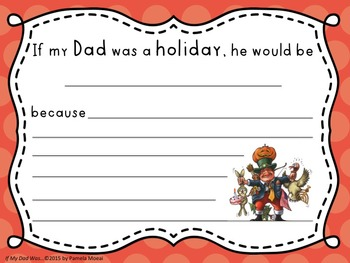 Father's Day Activity Sheets:  If My Dad Was A...