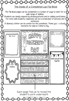 Father's Day ~ Interactive Lap Flip Book