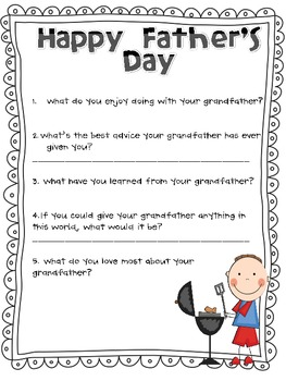 Father's Day Interview Questions (Grandfather and Uncle edition)