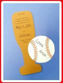 Father's Day Invitation (Baseball and Bat)