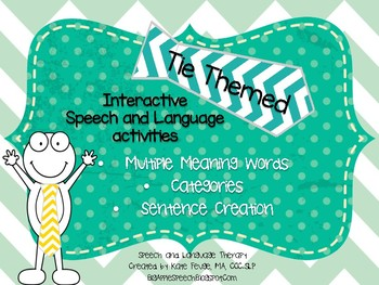 Interactive Speech Language Activities (categories, MMW, sentence creation)