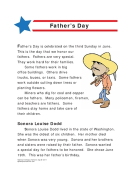 Father's Day Lesson and Activities