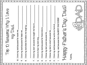 Father's Day Literacy Activities