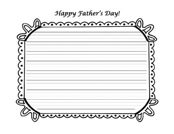Father's Day Memories Graphic Organizer Writing Activity