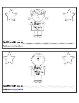 Father's Day Mini Book