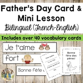 Father's Day Printable Card & Word Wall Vocabulary! (French-English)