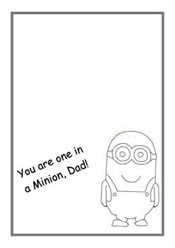 Fathers Day- Minion Card