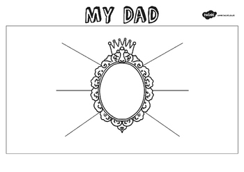 Fathers Day 'My Dad' Description Worksheet