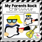 Father's Day Craft {My Dad Rocks Writing Prompts}