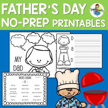 Father's Day No-Prep Printables