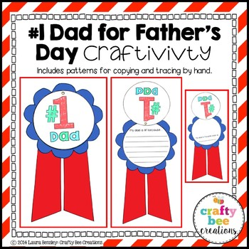 """Father's Day """"Number One Dad"""" Craftivity"""