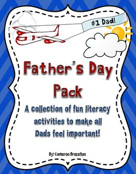 Father's Day Pack (Literacy, Writing, Activities, Gift Ideas)