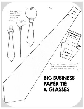 """Dress 4 Success"" Paper Tie and Glasses"