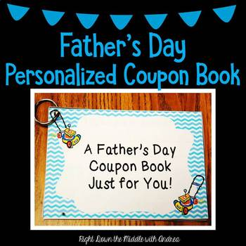 father s day personalized coupon book by right down the middle with