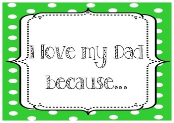 Father's Day Photo Sign