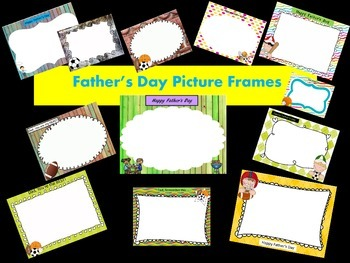 Father's Day Picture Frames - Personal & Commercial use