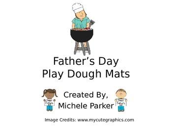 Father's Day Play Dough/Play-Doh/Playdough Mats FREEBIE