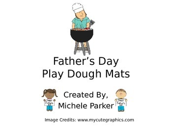 Father's Day Play Dough/Play-Doh/Playdough Mats FREEBIE