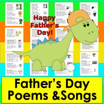 Father's Day Poems & Songs - 2 Versions - Color & B/W