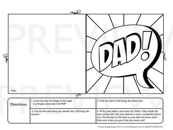 Father's Day Card - Great Father's Day Activity or Father's Day Craft!