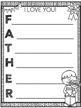 Father's Day - Poster & Acrostic