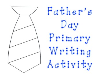 Father's Day Primary Writing Activity