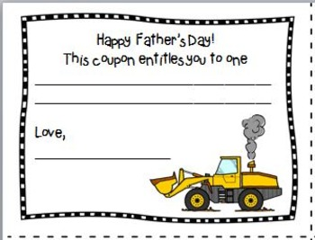 Father's Day Printable Coupons Freebie