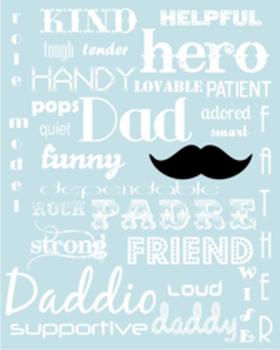 Father's Day Printable Subway Art