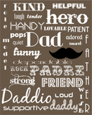 Father's Day Printable Subway Art :: Brown