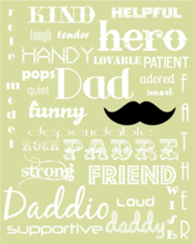 Father's Day Printable Subway Art :: Green