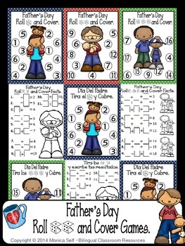 Father's Day Roll and Cover Games