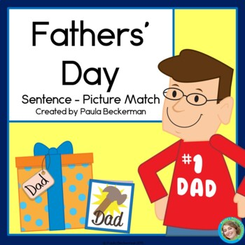 Fathers' Day Sentence Picture Match Reading Center