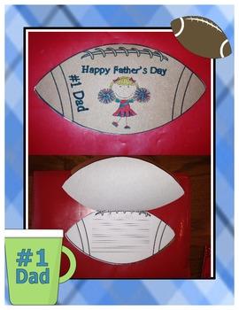 Father's Day Shapebooks {Football or Mug Themed}