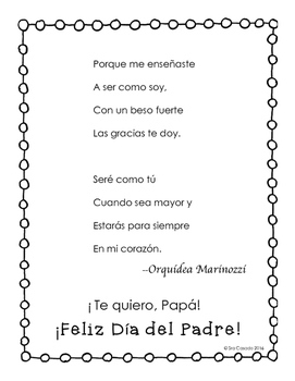 Fathers Day Spanish Craft and Activity