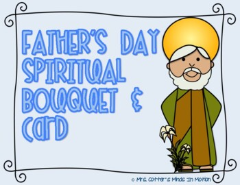 Father's Day Spiritual Bouquet and Card