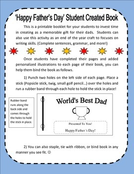 Father's Day Student Created Book (Template)