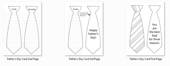 Father's Day Tie Card