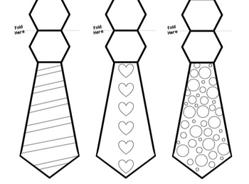 Father's Day Tie Card Templates