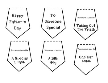 Father's Day Tie Coupon Book