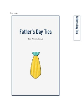 Father's Day Ties File Folder Matching Game