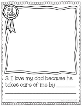 Fathers Day Book - Top 10 Reasons Why I Love My Dad