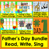 Father's Day BUNDLE: Booklet (Gift), Mini Books & Poems + Boom Cards Bonus