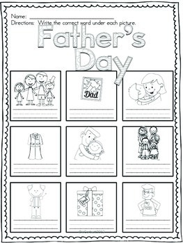 Father's Day Vocabulary Cards