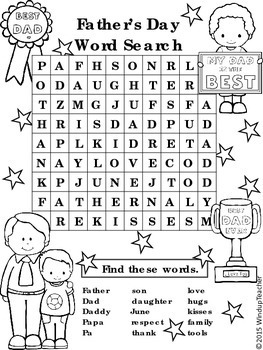 Father's Day Word Search * Easy