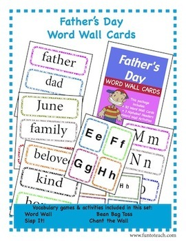 Father's Day Word Wall