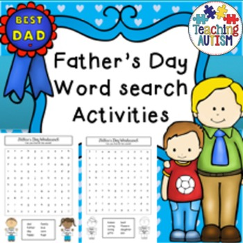 Father's Day Word Search Worksheets